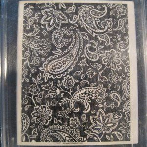 Stampin Up Paisley Background stamp